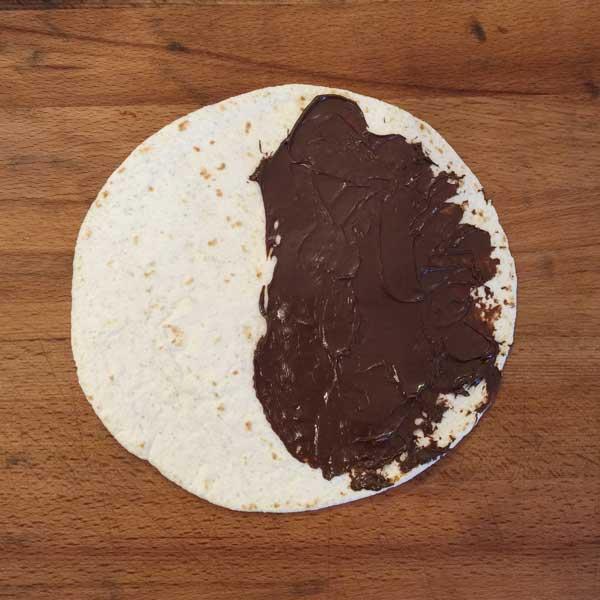 Tortilla mit Nutella
