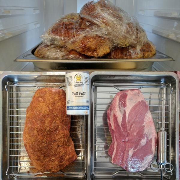 Pulled Pork: Ruhephase im Kühlschrank