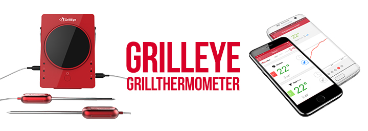 grilleye 6 port profi grillthermometer mit bluetooth howtobbq. Black Bedroom Furniture Sets. Home Design Ideas