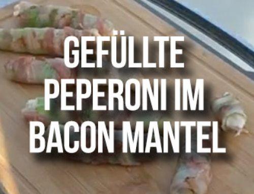 Gefüllte Peperoni mit Frischkäse und Bacon