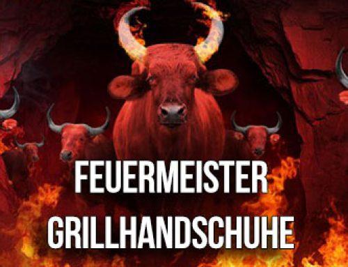 FEUERMEISTER BBQ Grillhandschuhe aus Spaltleder & Aramid/Nomex